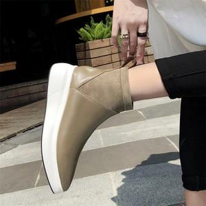 Image 5 - FEDONAS Botines de cuero genuino para mujer, calcetín informal, cómodo, de oficina, 2021