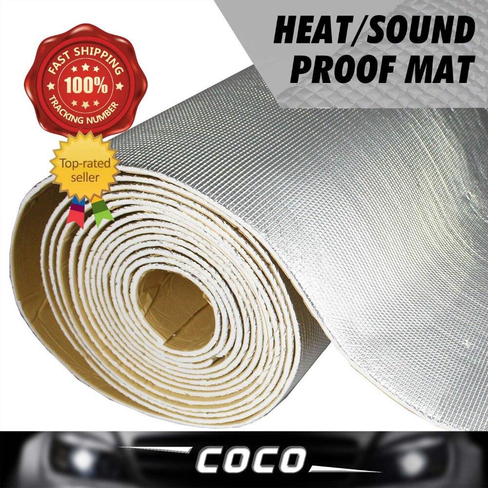 1 pièces 50 (+/-1) cm x 400 cm voiture-style isolation acoustique tueur de chaleur bruit Deadener silencieux tapis feuille bouclier aluminium coton
