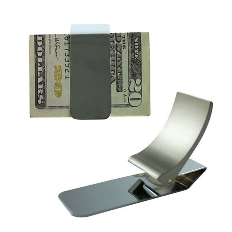 NEW Wallet Slim Sided Stainless Steel Money Clip Card Credit Name Holder WML99 цена