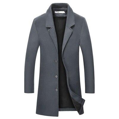 Шерстяная Мужская осенняя и зимняя новая куртка Мужская шерстяная куртка Длинная тонкая мужская ветровка