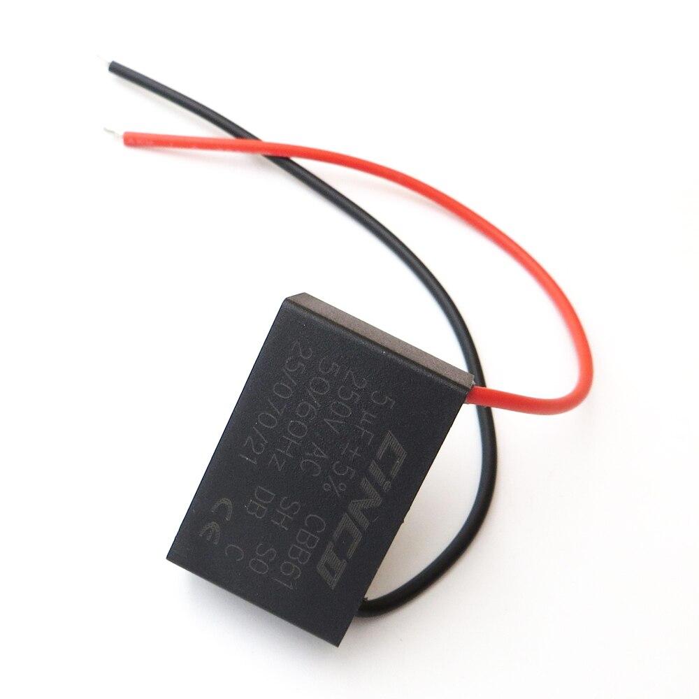 Home 1 Pc Cbb61 Motor Run Kondensator 4 Uf 250 V Ac 2 Draht Elektrische Fan Geschwindigkeit Elektrische Fanner Ventilatoren Auspuff Fan Kondensator Start