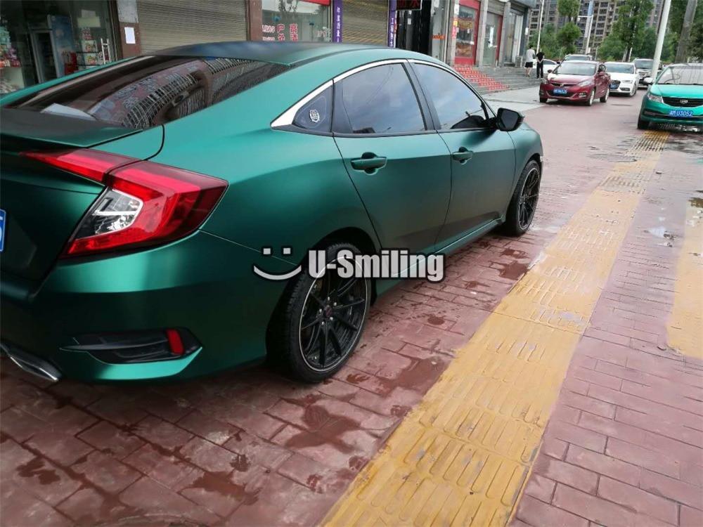 Film d'emballage en vinyle vert émeraude en métal perle Premium pour autocollant de voiture housse de voiture en vinyle sans bulles