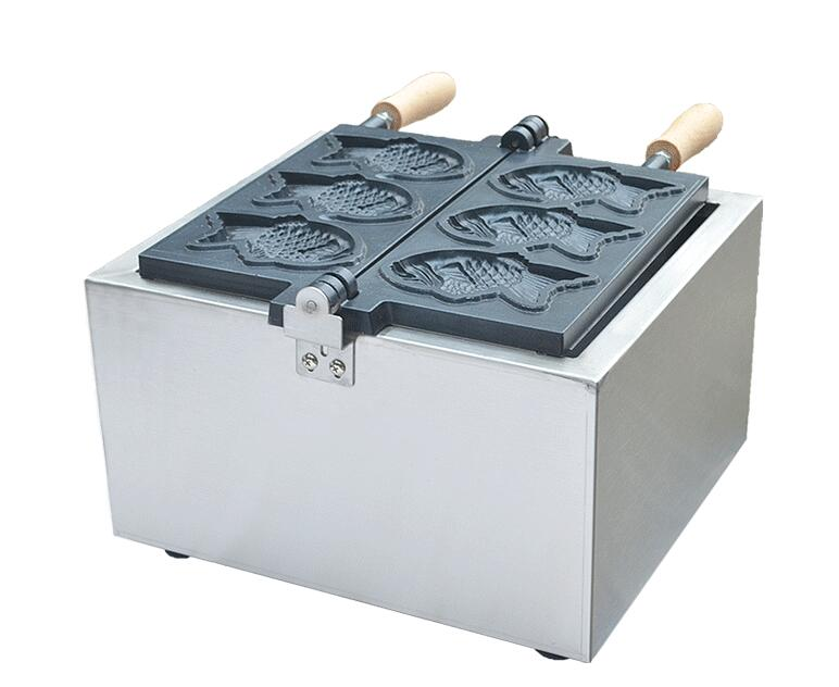 110V 220V Electric 3 PCS fish waffle maker Taiyaki machine