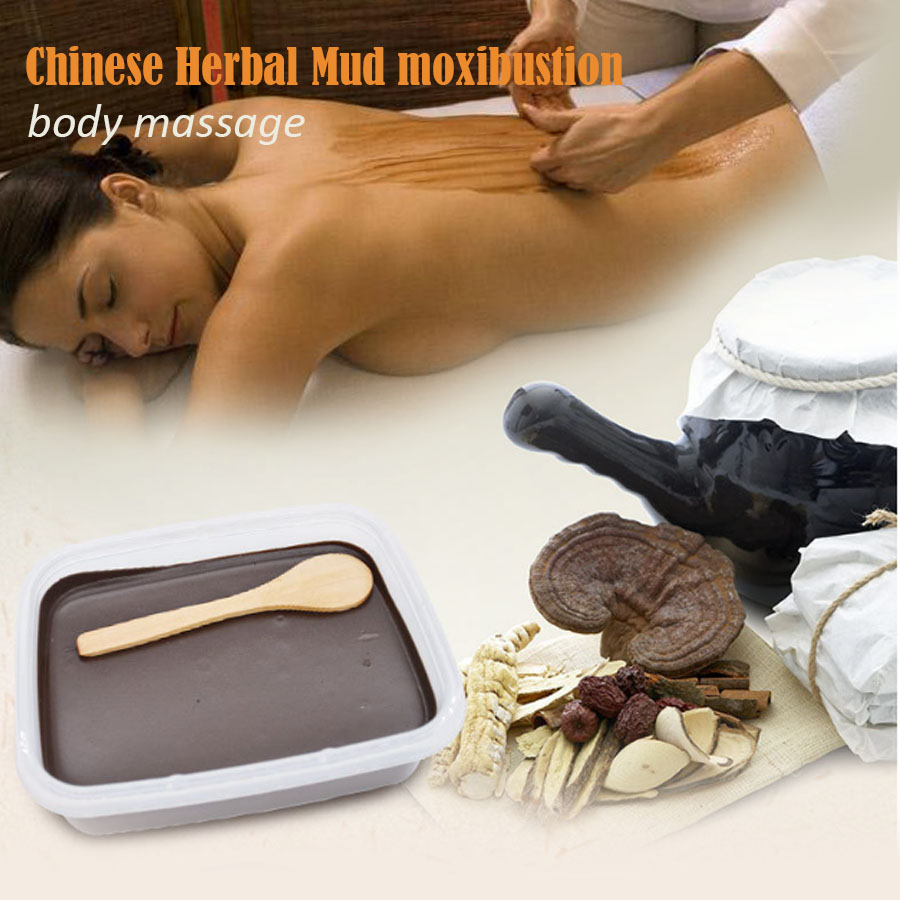 Chinese Herbal Medicine font b Health b font Physiotherapy Wax Mud Mud Moxibustion Volcanic Mud Massage
