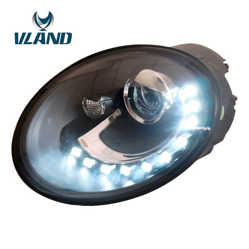 VLAND фабрика для автомобиля налобный фонарь для Beetle 1998 2005 светодиодный головного света для Beetle с H7 Биксеноновая HID линзы фар + Водонепроницаем