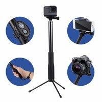 ハンドヘルド電話selfieスティック拡張可能一脚で電話リモートコントローラー&ミニ三脚&電話ホル