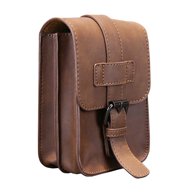 Vintage Crazy Horse PU Bolsa de Viaje de Cuero Para Hombre de La Cintura del Paquete de Fanny Correa Bucles Hip Bum Bolsa Bolsos Monedero Bolsa Del Teléfono