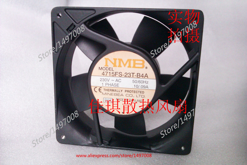 NMB-MAT 4715FS-23T-B4A, D02 AC 230V 0.10A, 120x120x38mm 0-wire Server Square fan free shipping for nmb 4715ms 23t b30 a00 ac 230v 12 11w 2 pin 120x120x38mm server square cooling fan