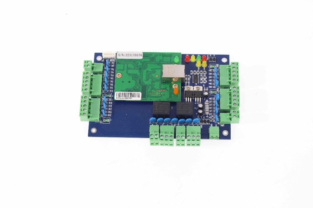 rfid access controller with TCP/IP door access control for 2 doors CD sofeware included/2 door access control board