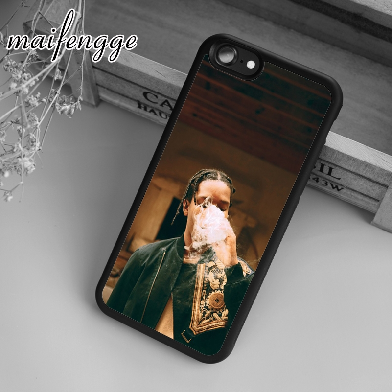 reputable site ec34a 469c9 US $3.19 20% OFF|maifengge ASAP Rocky Hip Hop Rapper Smoking Case For  iPhone 6 6S 7 8 Plus X 5 5S SE Case cover for Samsung S5 S6 S7 edge S8-in  Fitted ...
