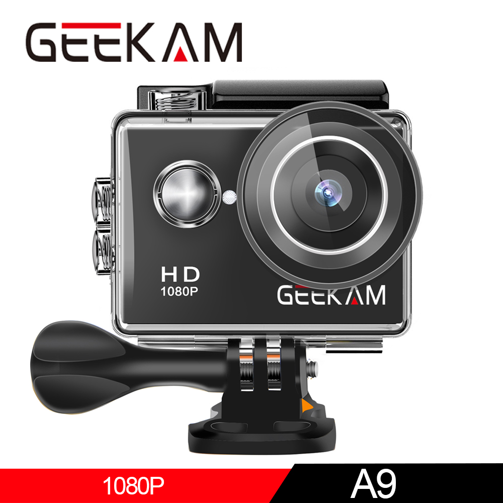 "GEEKAM A9 Action Camera Full HD 1080P 2.0"" Screen 30M Waterproof Helmet Mini Video Recording Cameras Sport Cam DVR-in Sports & Action Video Camera from Consumer Electronics"