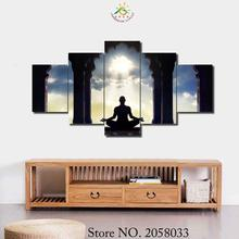3-4-5 Pieces Ashram Experiences Poster Modern Printed Painting On Canvas Home Pictures Prints Home Decorative Posters sri aurobindo ashram the mother on auroville