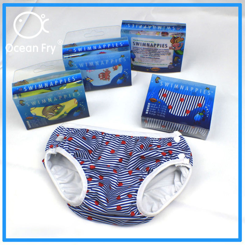 Children Swimwear Baby Nappy Reusable Swimming Trunks Toddler Infant Boys Girls Waterproof Leak Proof Diapers Comfortable Pants in Baby Nappies from Mother Kids