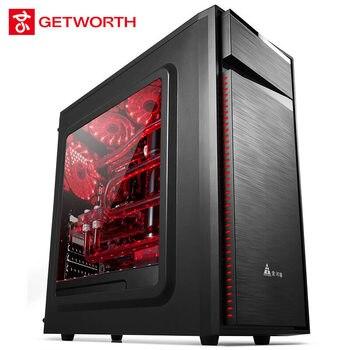 GETWORTH R20 DIY настольный компьютер I5 7500 8G DDR4 MSI H170M игровой ПК без системы офисный компьютер 1 ТБ HDD MATX CPU Gamer