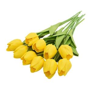 Image 4 - 10 sztuk tulipan sztuczny kwiat prawdziwy dotyk sztuczny bukiet sztuczny kwiat na dekoracje ślubne w kształcie kwiatów wystrój domu Garen