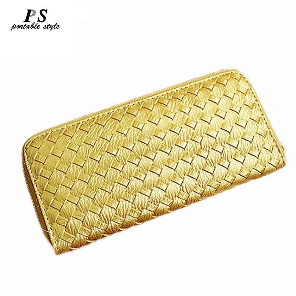 2019 New Fashion Women Wallet Luxury Famous Brand Designers Purse Female Long Zipper Leather Women Clutch Purse With Coin Pocket