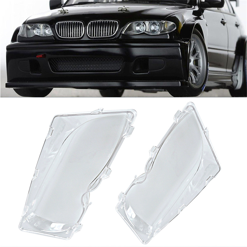2x car front headlight clear lens cover durable automobile headlamp len kit polycarbonate cover left and