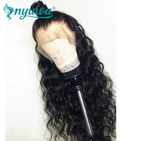 NYUWA 360 Lace Frontal Wig Pre Plucked Natural Hairline Water Wave Brazilian Remy Lace Front Human Hair Wigs With Baby Hair