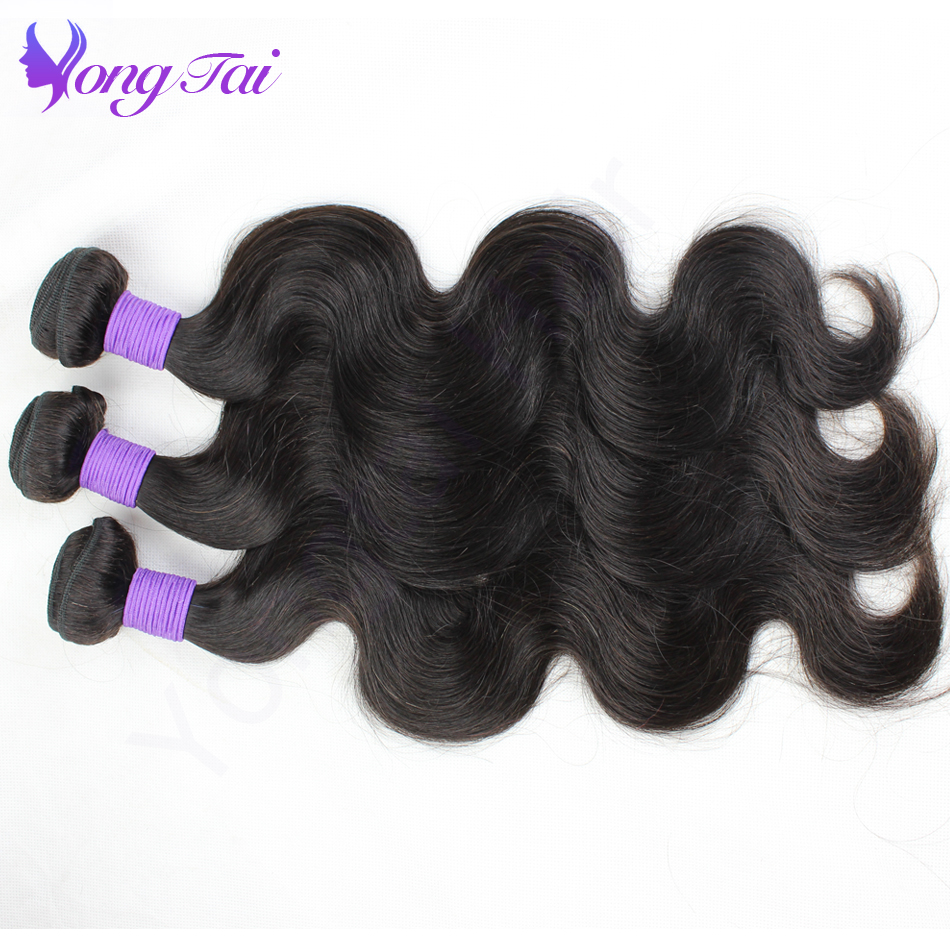 Yuyongtai Hair Malaysian Virgin Hair Body Wave 3 st per lot 100g / - Mänskligt hår (svart) - Foto 4