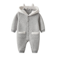 Warm Newborn Infant Romper Animal 3D Rabbit Baby Girls Rompers Clothes Autumn Winter Toddler Boys Jumpsuits Outfits Kids Overall