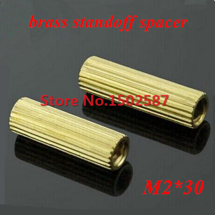 100 Pieces <font><b>M2</b></font>*30 Brass Hex Standoff Spacer Double-pass Column <font><b>M2</b></font> Female x <font><b>M2</b></font> Female <font><b>30mm</b></font> image