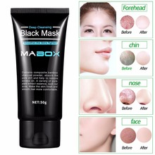 Mabox Bamboo charcoal Blackhead Removal Face Mask Deep Cleansing Mud Black Mask Acne Treatments Mask Blackhead Facial Mask