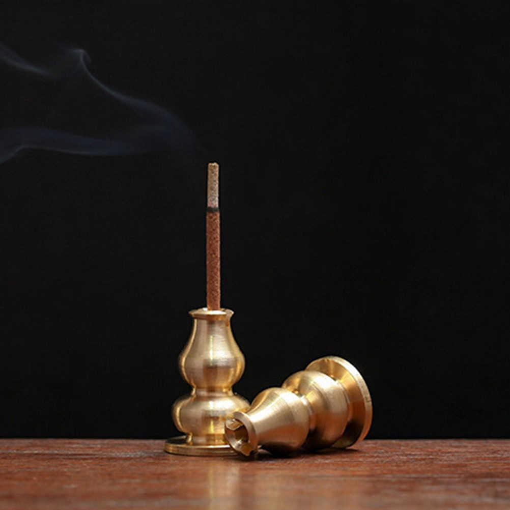 1 шт. портативный курильница для благовоний, курильница, Высокая Вилка для благовоний, медный держатель для благовоний, может быть закреплен, палочки для благовоний, катушка