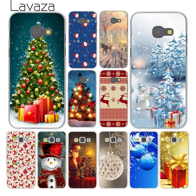 Lavaza Christmas Snow Reindeers Santa Tree New Year Case for Samsung Galaxy A3 A5 J3 J5 2015 2016 2017 Grand Prime Note 5 4 3 2