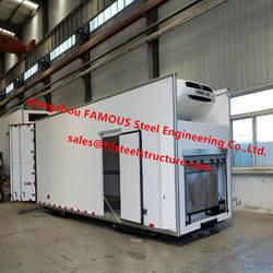 Передвижной контейнер для холодного хранения полиуретановый сердечник металлическая панель украшение портативный охлажденный