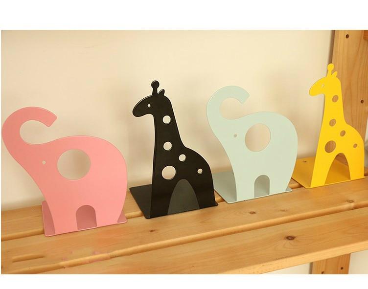 1 Pair/lot 4-Color Innovative Creative Cute Lovely Animal-Shaped Bookend, Giraffe & Elephant, SL00003