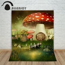 Foto de vinil estúdio fundo cogumelo portão casa retro backdrops foto papel fotográfico