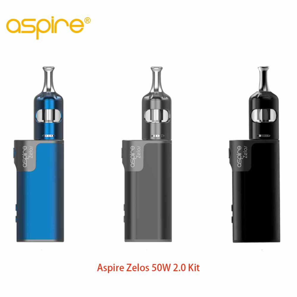 New Arrivals Aspire Zelos 50W 2.0 Kit MTL with Nautilus 2S tank 2.6ml/2ml Version Adjustable Airflow Top-fill E-cig Vape Kit presale electronic cigarettes aspire zelos 50w 2 0 kit mtl 2 6ml 2ml nautilus 2s tank 0 4ohm 1 8ohm nautilus bvc coils vape kit