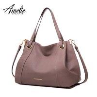 AMELIE GALANTI модные вместительные сумки женская сумка большой ёмкость сумочка из мягкой искусственной кожи Ткань Crossbody женщина сумки с интерьер