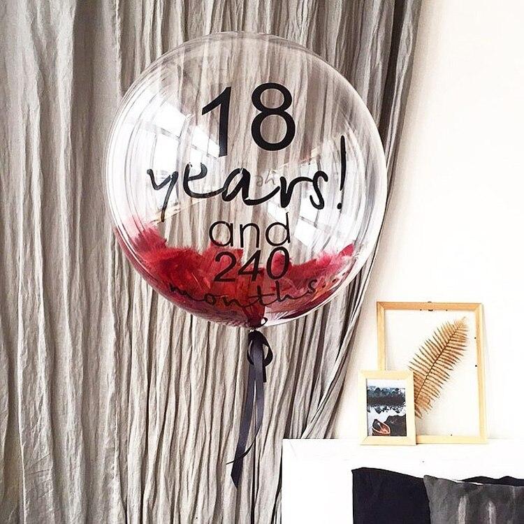 5st Inga Winkles Transparenta PVC Ballonger 10/18 tums Clear Bubble - Semester och fester