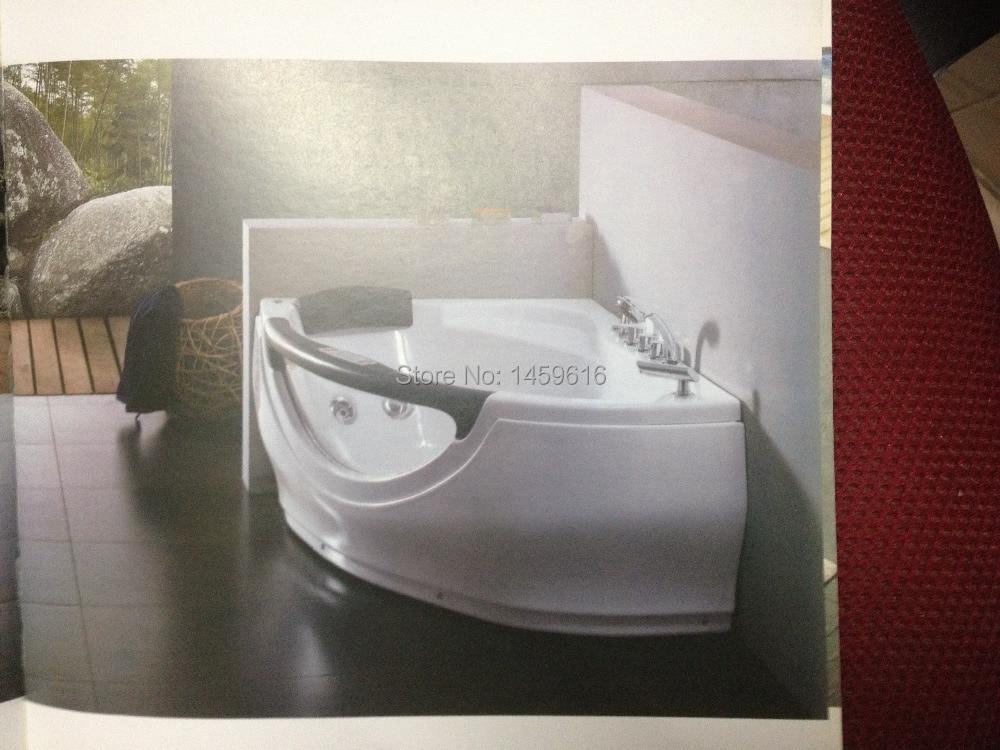 Buy Triangular Fiberglass Buthtub Massage Motor Wall Corner Piscine Whirlpool