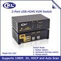 2017 kvm ckl 2 portas hdmi switch com auto scan função 2 em 1 out Switcher para Vídeo Teclado Mouse Suporta 3D 1080 P (CKL-92H)
