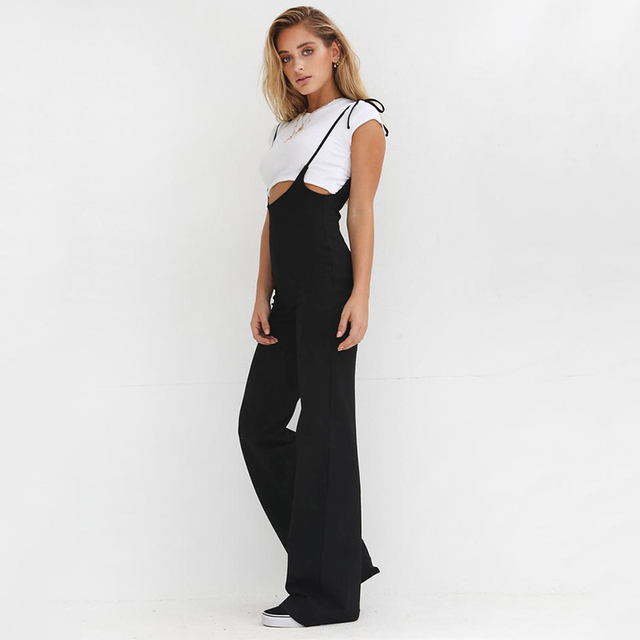 8dc4b2e328b Echoine 2018 High Waist Suspenders for Women Fashion Sweet Girls Braces  Pants Casual Loose Trousers Overalls