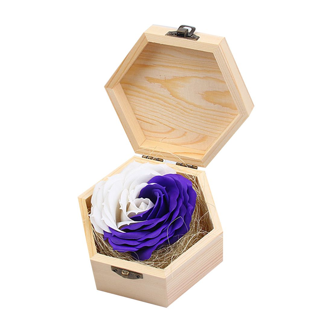Soap Flowers Gifts box for birthday Gifts Teacher's Gifts(Purple+White)