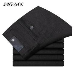 Uwback 2017 Повседневные штаны для мужчин Для мужчин осень свободные дышащая белье Мотобрюки мужской моды Бизнес Брюки для девочек густой