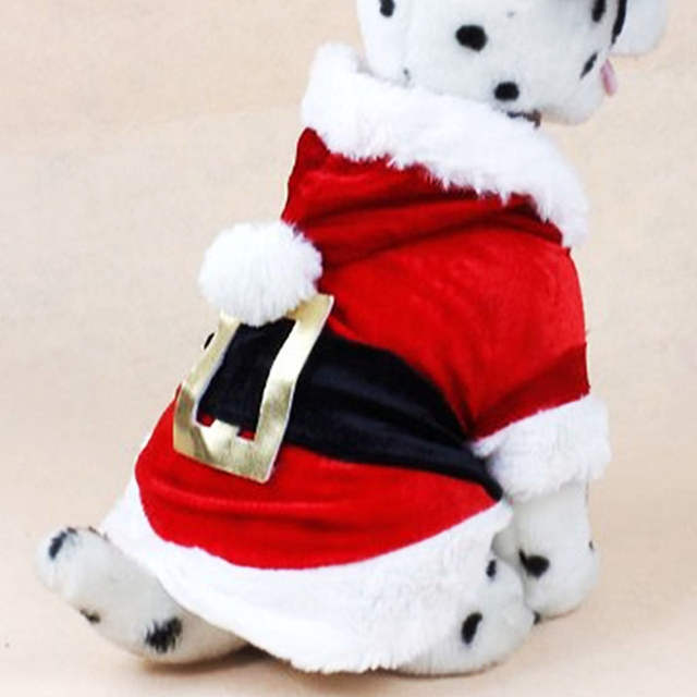 d805eb83aa7 Christmas Dog Clothes Santa Costume Pet Dog Cat Clothes Chihuahua Coat  Clothing Cute Pet Christmas Outfit for Small Dog Cat 30S2