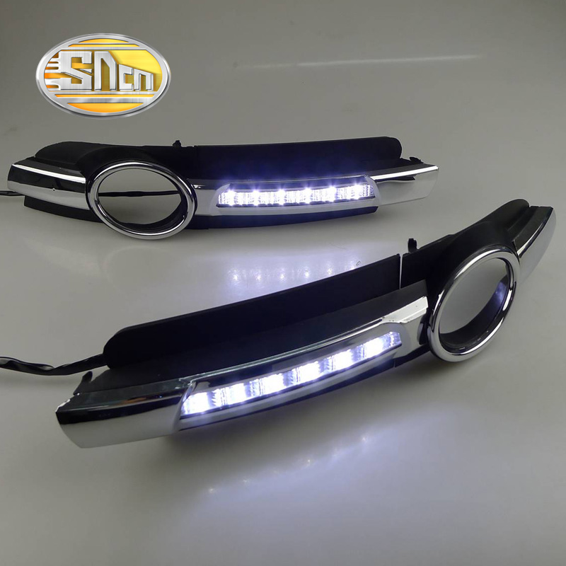 Для Ауди А6 С6 2005 - 2008,супер Яркость Водонепроницаемый АБС автомобиля DRL 12V светодиодные дневные ходовые свет дневного света хромированным молдингом SNCN