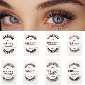 1 Pairs 100% Handmade Natural False Eyelashes 5 Styles Makeup Beauty False Eyelashes New Fashion Women Fake Eye Lashes