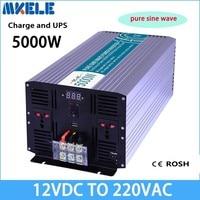 MKP5000 122 C Pure Sine Wave off grid inverter 5000w 12v to 220v solar inverter voltage converter with charger