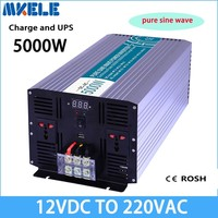 Mkp5000 122 c чистая синусоида преобразователь вне сети 5000 Вт 12 В до 220 В Солнечный Инвертор преобразователь напряжения с зарядное устройство