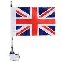 Mayitr Motorcycle Rear Side Mount Flag Pole Vertical Britain Flag Luggage Rack For Honda GoldWing GL1800