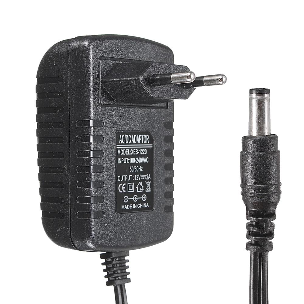 1 Pc Us/eu Plug 5 V 1a 2a 3a 5.5mm X 2.5mm Dc Plug 100-240 V Ac à Dc Adaptateur D'alimentation Chargeur Convertisseur Pour Bande De Lumière Led