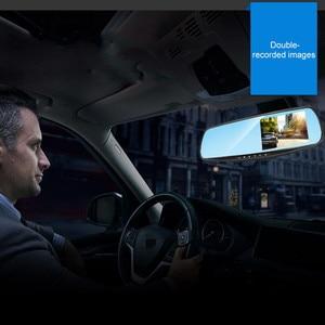 Image 4 - Rijden Recorder Auto DVR Camera Spiegel 4.3 Inch Full HD 1080 P 170 ° Groothoek Dual Lens Omkeren Video recorder Cyclus Video