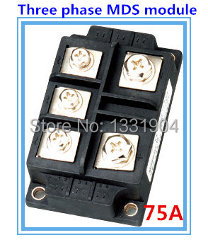75A three phase Bridge Rectifier Module MDS 75 welding type used for input rectifying power supply and so on