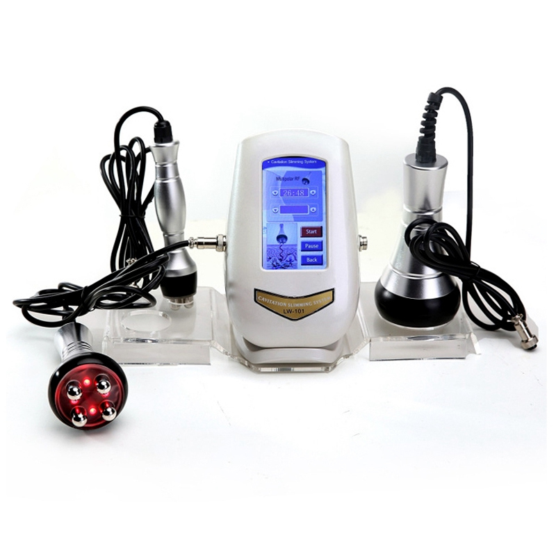 3 In 1 Ultrasonic Liposuction 40K Cavitation Vacuum Multipolar Bipolor RF Laser Slimming Radio Frequency Skin Face Body Machine