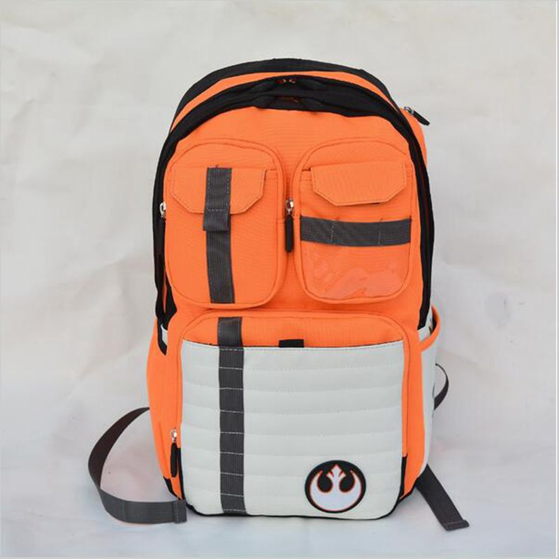 New Star Wars Backpack Rebels Logo Alliance Icon Canvas Teenager School Bag Wholesale Children Schoolbag High